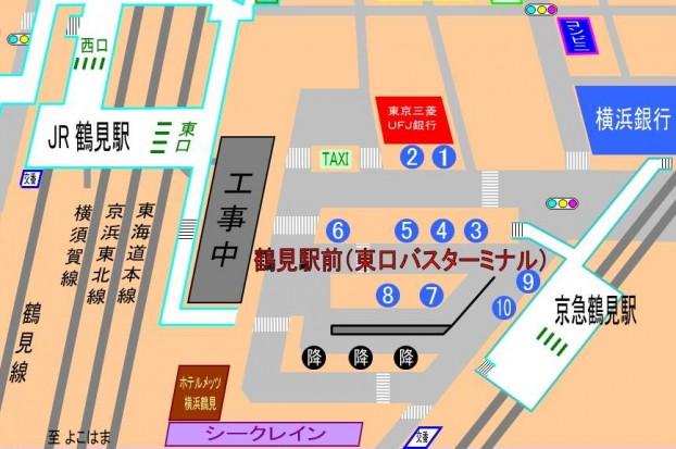 バス乗り場マップ